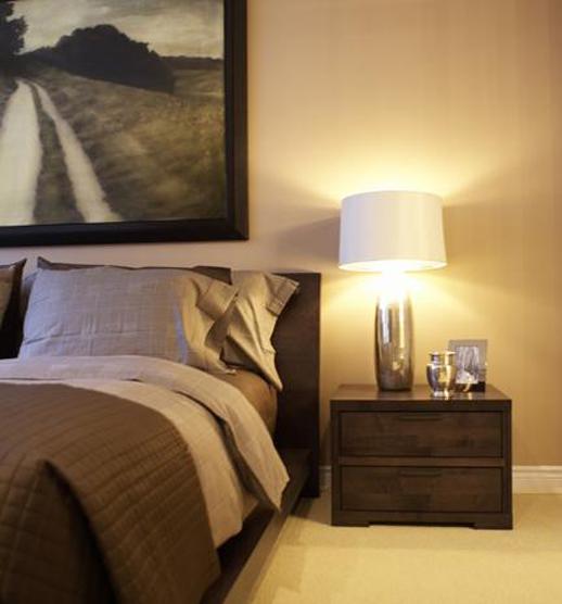 Urban Lakefront Condo Master Bedroom